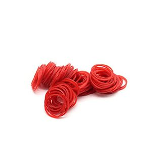 10 RED Rubber Band 1.5mm x 35mm 500 gram