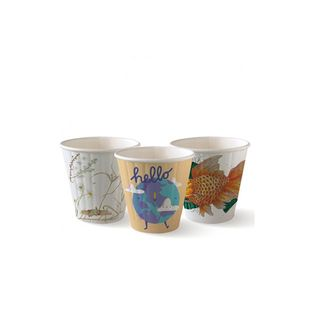 8oz Double Wall BioCup Art Series 1000/C