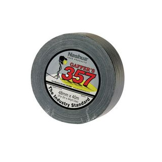 357 Nashua Gaffer Tape Black 24mm x 40m 48/carton
