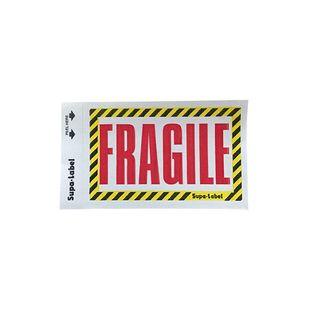 Fragile Supa-Labels 75mm x 130mm 500/ box