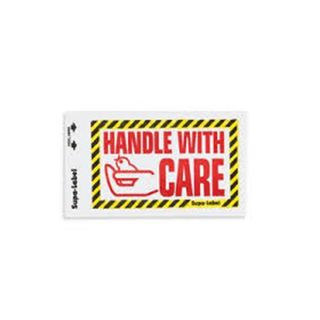 Handle with Care Supa-Labels 75mm x 130mm  500/ box