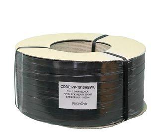 Black Heavy Duty Strapping 19 x 1000m on Cardboard Core