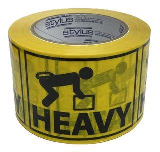 SP500 Heavy Label Tape BL/YL 75mm x 50m