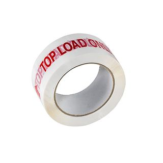 PP Red on White Top Load Only Tape 48mm x 66m