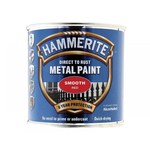 HAMMERITE PAINT SMOOTH 250ML RED