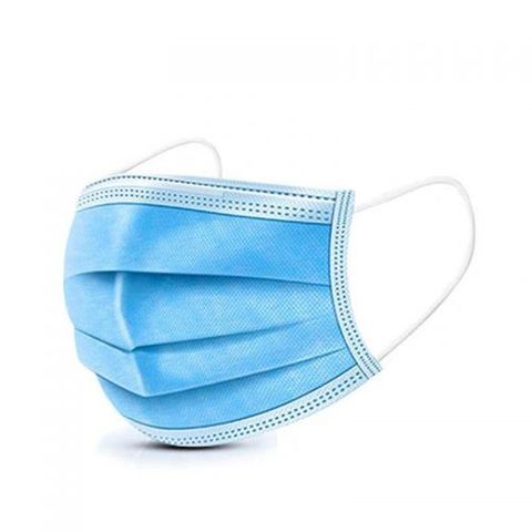 DISPOSABLE FACE MASK 3 LAYER BLUE - SINGLES