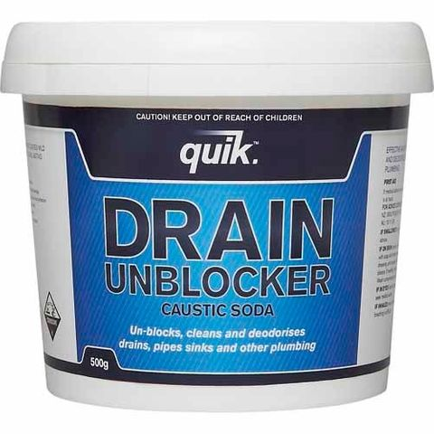 QUIK CAUSTIC SODA DRAIN UNBLOCKER 500G