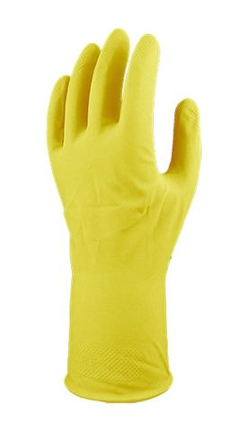 YELLOW COMFORT FLOCKLINED RUBBER GLOVES XL