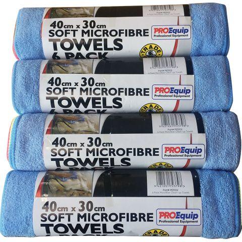 PROEQUIP SOFT MICROFIBRE CLOTH 40X30 6PK