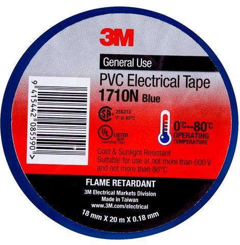 3M PVC ELECTRICAL TAPE 18MM - BLUE