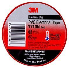3M PVC ELECTRICAL TAPE 18MM  RED