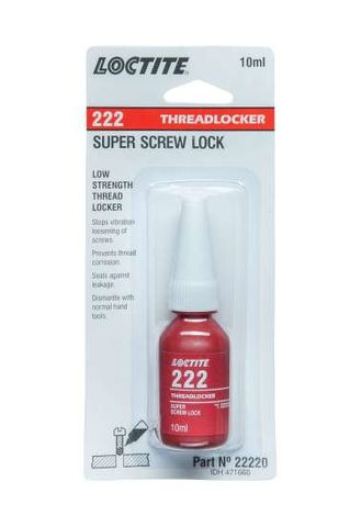 LOCTITE 10ML 222 SCREW LOCK 22220