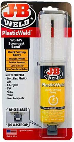 J-B WELD PLASTICWELD EPOXY 5MIN 25ML SYR