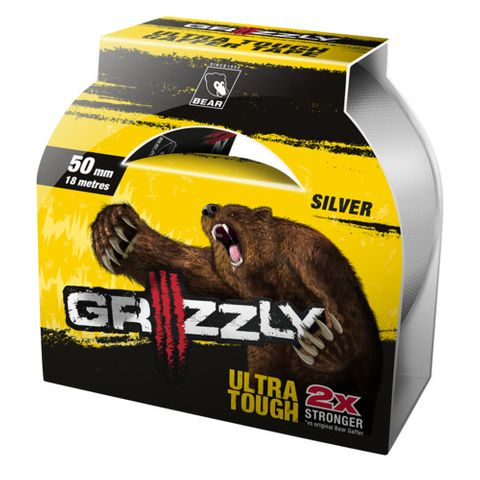 GRIZZLY CLOTH TAPE 50MM X 18M BLACK  63642548203