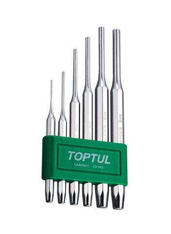 TOPTUL 6PC PIN PUNCH SET