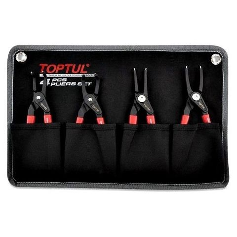 TOPTUL 4PC HEAVY DUTY CIRCLIP PLIER SET