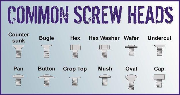 Common Screw Heads