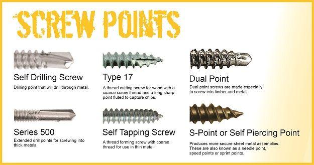 Common Screw Points