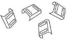 Stainless Steel Clip for Aquadapt - 50 Per Pack