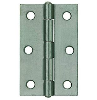 70mm x 50mm x 1.6mm Fixed Pin Butt Hinge - ZP