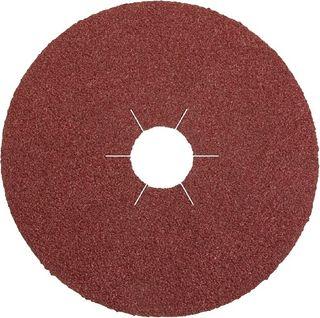 125 x 22 Fibre disc (CS561) Aluminium oxide/Star hole 80 Grit