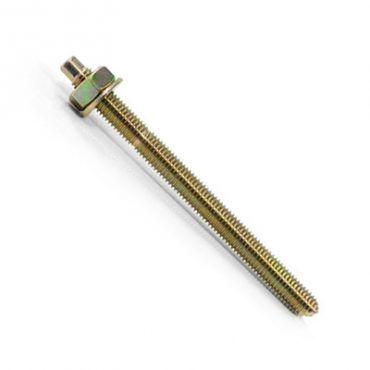 M24 x 260mm Chem Stud Bolt  Nuts & Wash Z/YELLOW