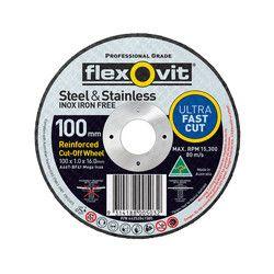 100 x 1 x 16 Thin Inox Cutting Disc - 15102010