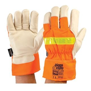 Reflective Riggamate Gloves With Thinsulate Large