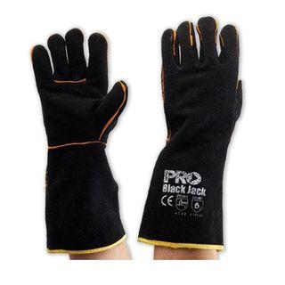 BLACK JACK Black & Gold. gloves Length 40cm
