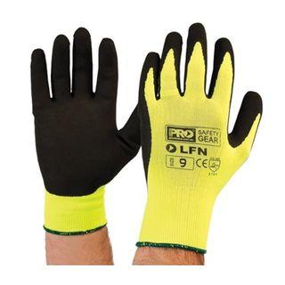 Black HI-Vis Yellow Gloves Size 11 - LFN - PRO