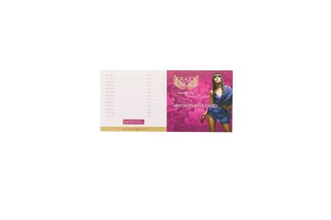 CR ANGEL SALON APPOINTMENT CARD