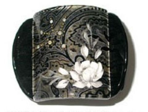 MLISA LRG BLACK PAISLEY/WHITE FLOWER/DIA