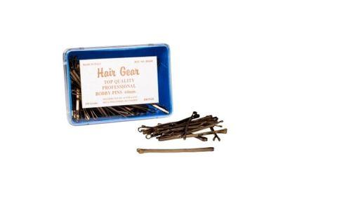 HAIR GEAR LONG-BRONZE BOBBY PINS 64mm