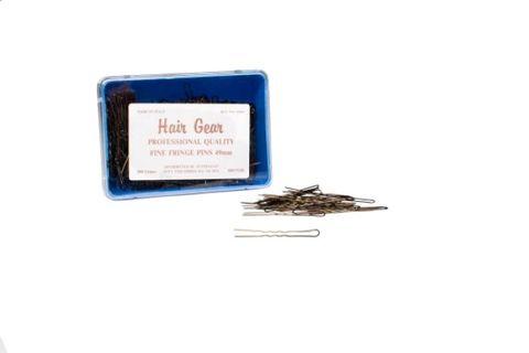 HAIR GEAR FINE BRONZE FRINGE PINS 49mm