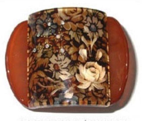 MLISA REG BROWN FLORAL/WHITE FLOWER/DIAM