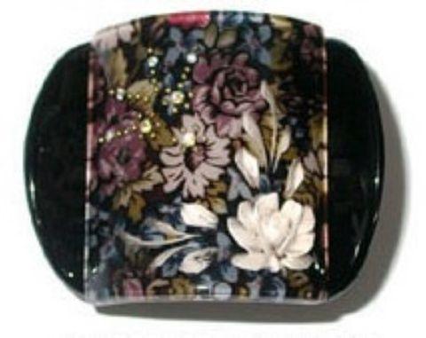 MLISA REG BLACK FLORAL/WHITE FLOWER/DIAM