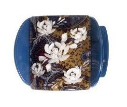 MLISA REG BLUE PAISLEY/WHITE FLOWER/DIAM