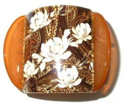 MLISA REG BROWN PAISLEY/WHITE FLOWER/DIA