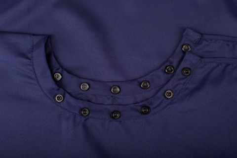 AWARE POLYESTER STUD NECK NAVY BLUE