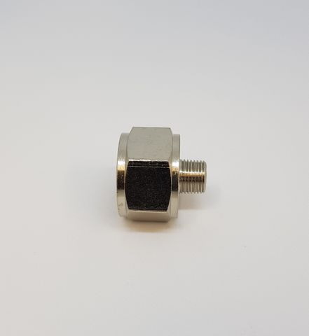 Adaptor M/F 1/2-1/8 Nickel