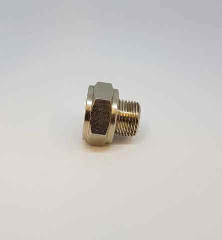 Adaptor M/F 3/4-1/2 Nickel
