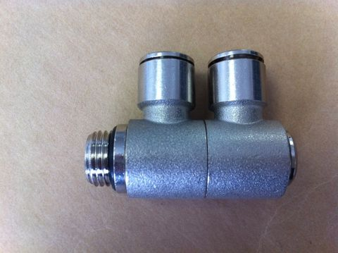 Double bsp Swivel  Elbow 8mm x 1/4 020187