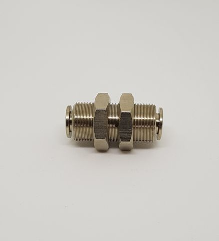 Bulkhead Fitting 6mm x 6mm PTC