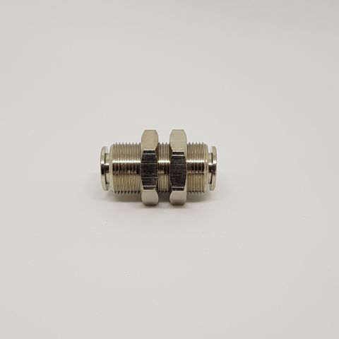 Bulkhead Fitting 8mm x 8mm PTC