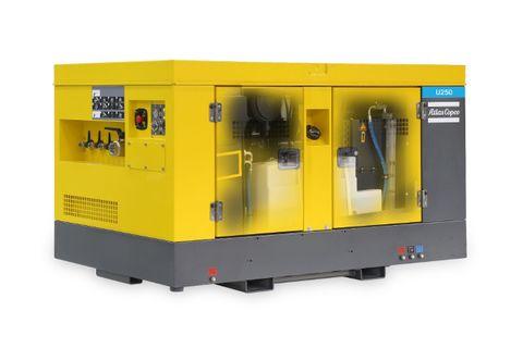 u250 Portable Air Compressor 250CFM Utility + Generator 15kva + Aftercooler