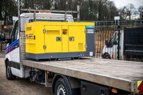 U130 Portable Air Compressor 130CFM Utility + Generator 15kva + Aftercooler