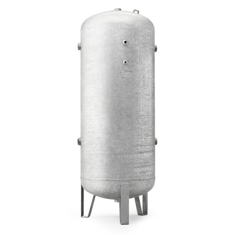 V1000Lt 16 Bar vertical air receiver Galvanised