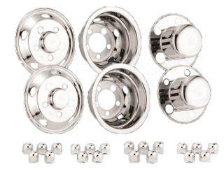 "WHEEL TRIM - 15"" x 5J 115-8T  5 bolts SET with lug nut caps (set)"