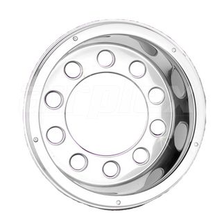 """WHEEL TRIM - 22.5"""" extra deep s/s wheel cover rear - with 10 holes (each)"""