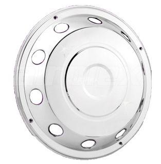 "WHEEL TRIM - 19.5"" s/s plain wheel cover - with 10 holes (each)"